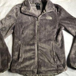 Women's North Face zip-up jacket